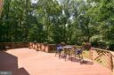 Spacious deck w/ gorgeous private view - 1700 BESLEY RD, VIENNA
