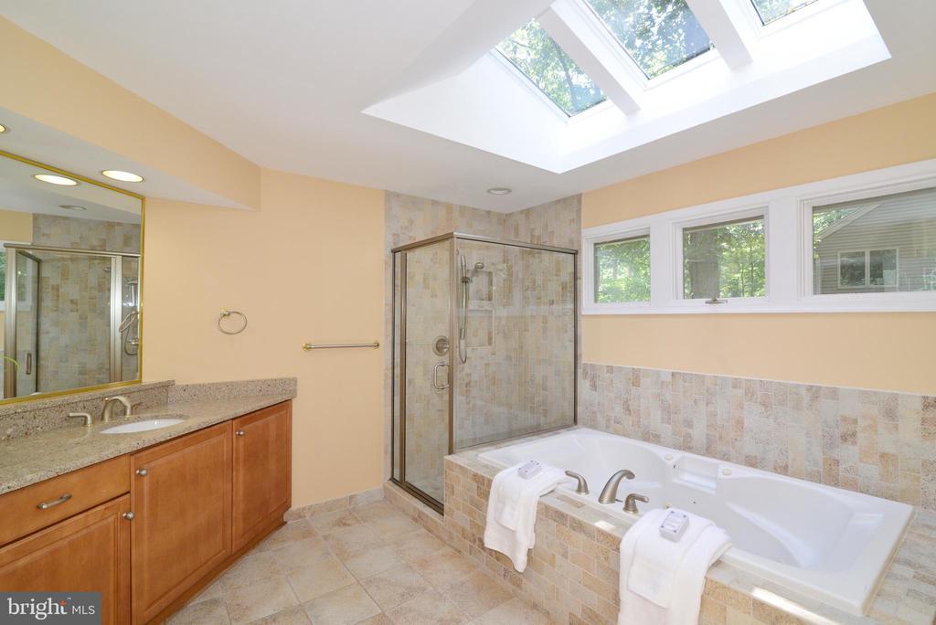 Master bathroom w/ soaking tub & sky lights - 1700 BESLEY RD, VIENNA