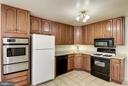 Kitchen, Wall Oven, Range and Built-In Microwave - 11901 ENID DR, ROCKVILLE