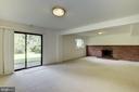 Lower Level Walk Out Recreation Room - 11901 ENID DR, ROCKVILLE