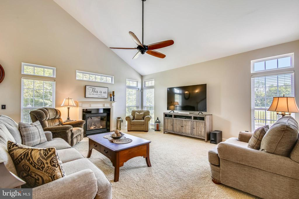 Family Room with Gas Fireplace - 17262 NORTHWOODS PL, HAMILTON