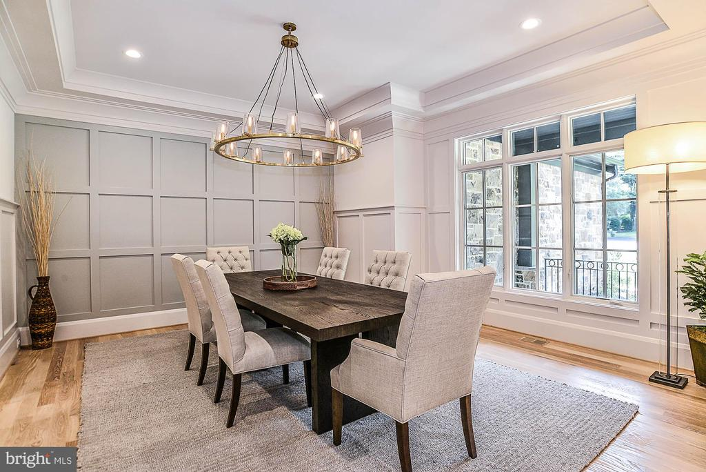 Formal Dining Room w/ Extensive Boxed Moldings - 7004 ARBOR LN, MCLEAN