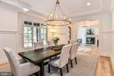 Tray Ceiling & Transom Windows in Dining Room - 7004 ARBOR LN, MCLEAN