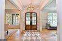 Mahogany Doors, Crown Molding & Hardwoods in Foyer - 7004 ARBOR LN, MCLEAN