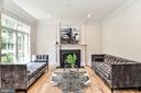 Formal Living Room with Wide Plank Oak Hardwoods - 7004 ARBOR LN, MCLEAN