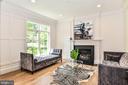Gas Fireplace w/ Slate Surround & Transom Windows - 7004 ARBOR LN, MCLEAN