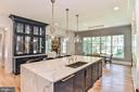 Floor to Ceiling Kitchen Hutch w/ Display Lighting - 7004 ARBOR LN, MCLEAN