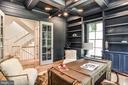 French Doors & Built-ins in Office - 7004 ARBOR LN, MCLEAN
