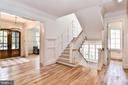 Switchback White Oak Staircase w/ Wall of Windows - 7004 ARBOR LN, MCLEAN