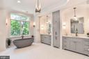 Luxurious Spa Master Bath with Separate Vanities - 7004 ARBOR LN, MCLEAN