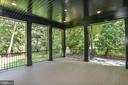 Relaxing Loggia w/ Wall TV Outlets & Steps to Yard - 7004 ARBOR LN, MCLEAN