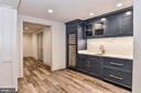 Subzero Refrigerator Drawers & Wine Fridge in Bar - 7004 ARBOR LN, MCLEAN