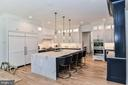 Sophisticated Kitchen w/ Contrasting Cabinetry - 7004 ARBOR LN, MCLEAN