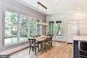 Wall of Windows & Batten Accent in Breakfast Room - 7004 ARBOR LN, MCLEAN