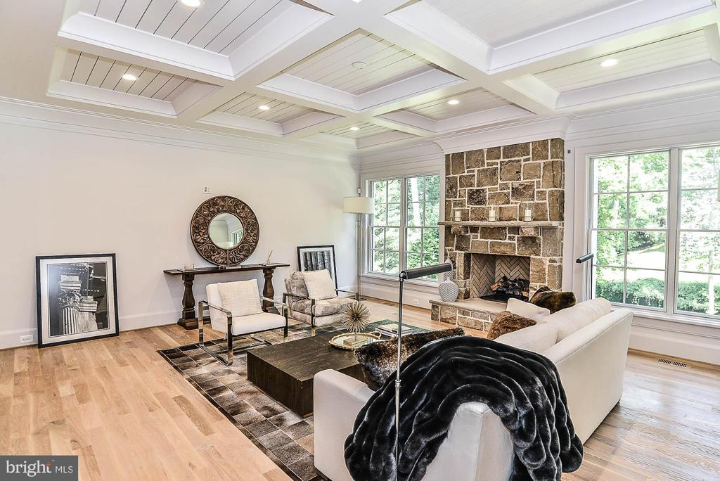 Coffered Ceilings Laid w/ Shiplap Accents in FM - 7004 ARBOR LN, MCLEAN