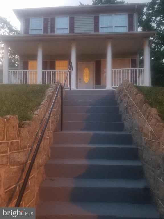 Front  View Stairway Leading to Full Length Porch - 4328 ALABAMA AVE SE, WASHINGTON