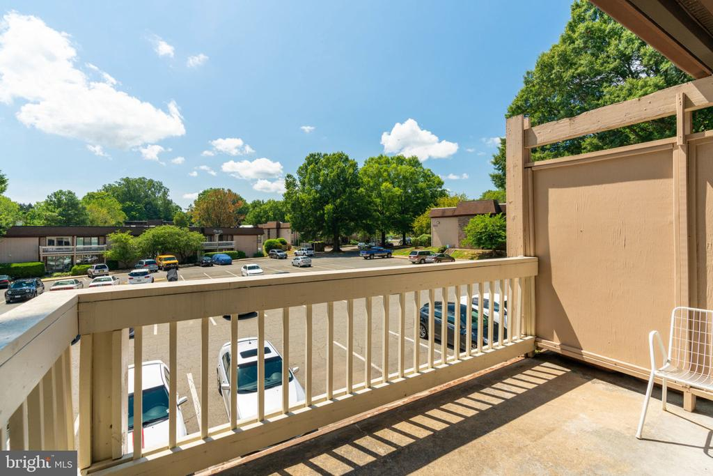Balcony:  Cozy, Wide Open View - 5804 ROYAL RIDGE DR #H, SPRINGFIELD