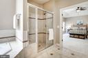 Large shower stall with built in bench - 11691 CARIS GLENNE DR, HERNDON
