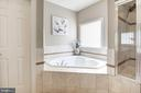 Relaxing soaking tub - 11691 CARIS GLENNE DR, HERNDON