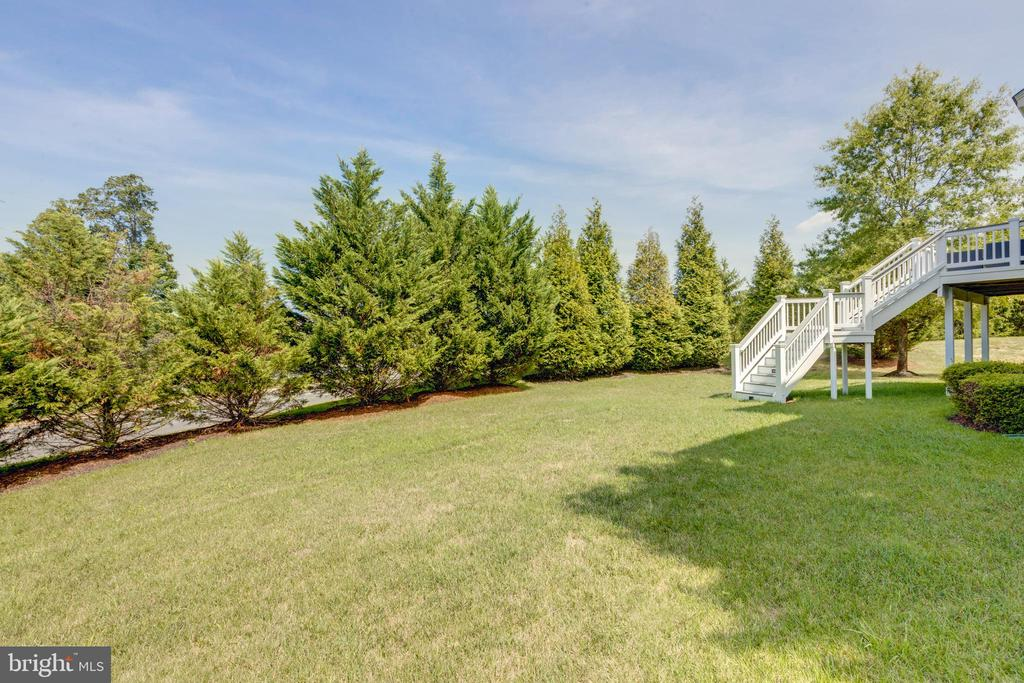 Large private back yard - 42022 GLASS MOUNTAIN PL, ALDIE