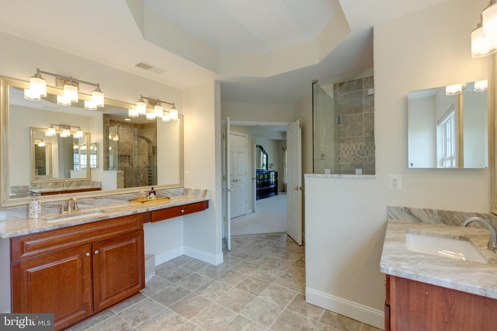 Master bathroom  with dual vanities - 42022 GLASS MOUNTAIN PL, ALDIE