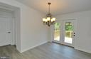 Dining Room with French Doors to Deck - 126 WHITE POPLAR, HARPERS FERRY
