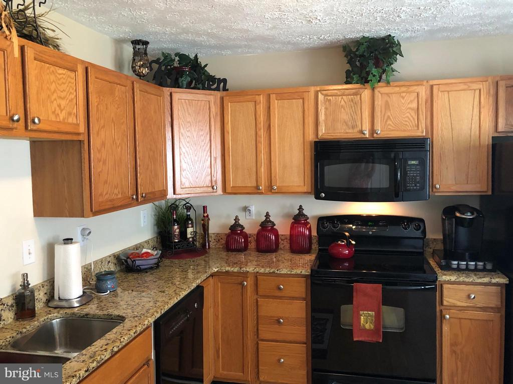 Granite tops and double stainless sink - 10610 LIMBURG CT, FREDERICKSBURG