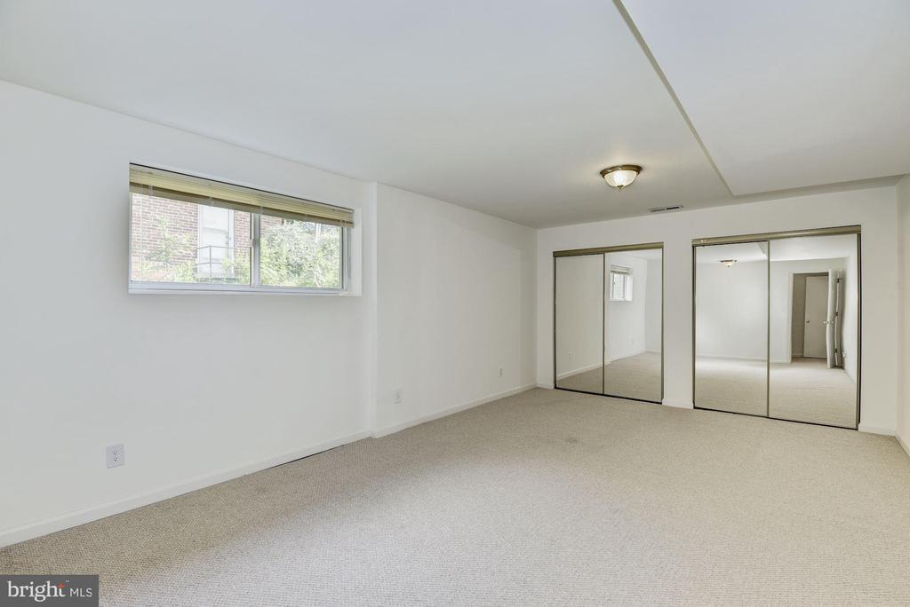 Lower Level Bedroom with Double Closets - 11901 ENID DR, ROCKVILLE