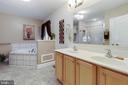 Master bath with dual vanities - 144 AQUA LN, COLONIAL BEACH