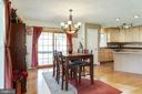 Dining area opens into the kitchen - 144 AQUA LN, COLONIAL BEACH