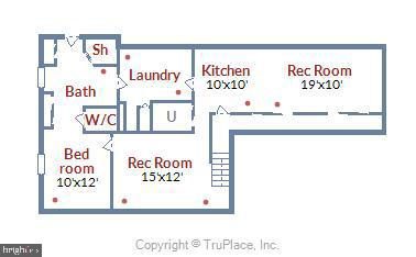 Lower Level Floor Plan - 6008 NASSAU DR, SPRINGFIELD