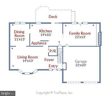 Main Level Floor Plan - 6008 NASSAU DR, SPRINGFIELD