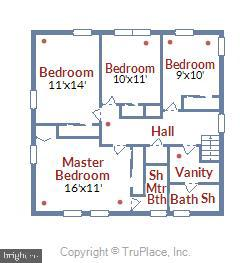 Upper Level Floor Plan - 6008 NASSAU DR, SPRINGFIELD