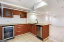Basement Wet Bar w/ wine chiller and dishwasher - 6008 NASSAU DR, SPRINGFIELD