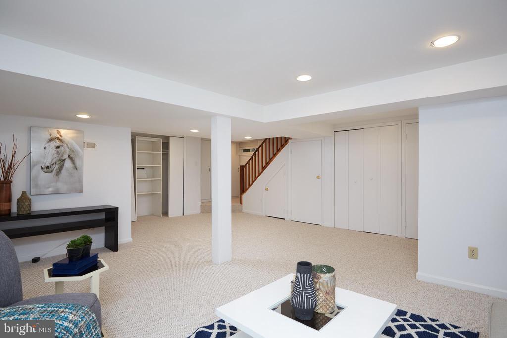 Rec Room Storage and Stairway - 129 N OAKLAND ST, ARLINGTON