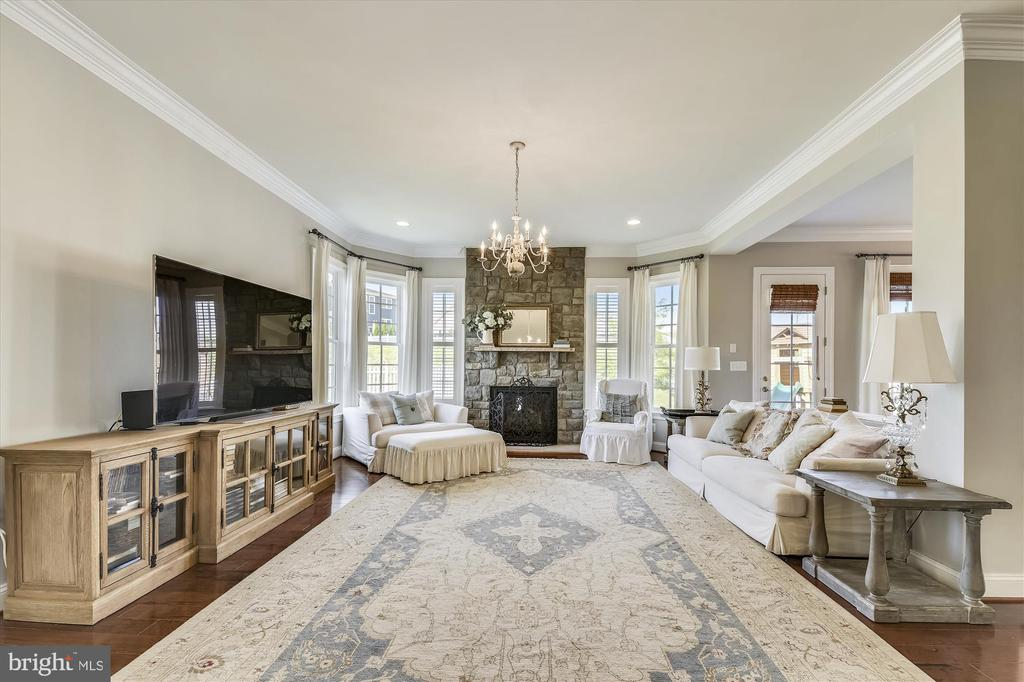Gorgeous Windows and Fireplace in Family Room - 41669 APPLEYARD PL, ASHBURN