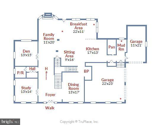 Main Level Floor Plan - 41669 APPLEYARD PL, ASHBURN