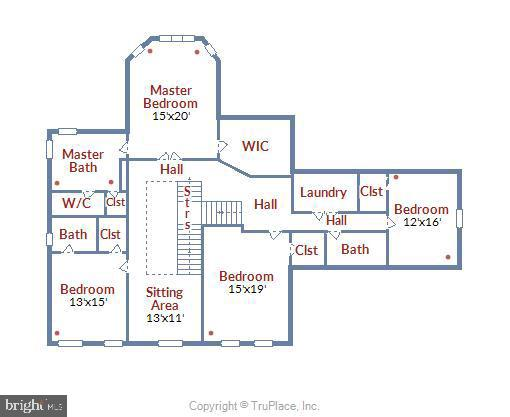 Upper Level Floor Plan - 41669 APPLEYARD PL, ASHBURN