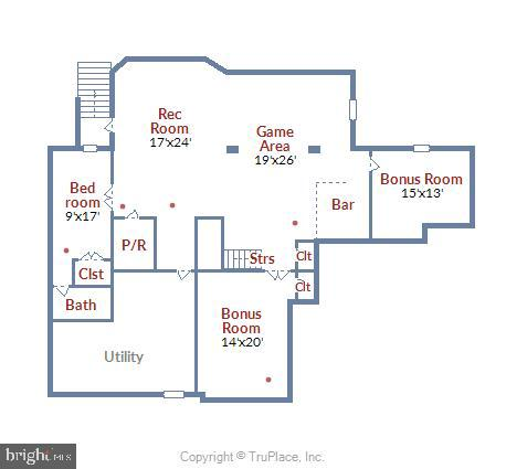 Lower Level Floor Plan - 41669 APPLEYARD PL, ASHBURN