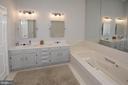 Master Bathroom on 2nd level - 3624 WINFIELD LN NW, WASHINGTON
