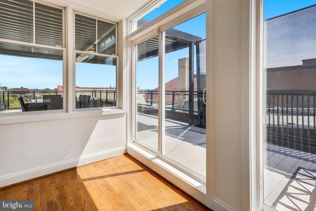 Sunroom off Roof Deck - 2719 13TH ST NW #2, WASHINGTON