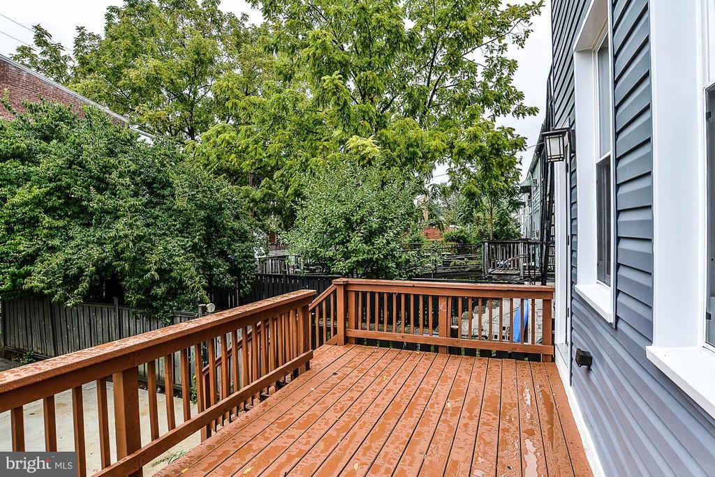 Backyard - Deck - 3600 18TH ST NE, WASHINGTON