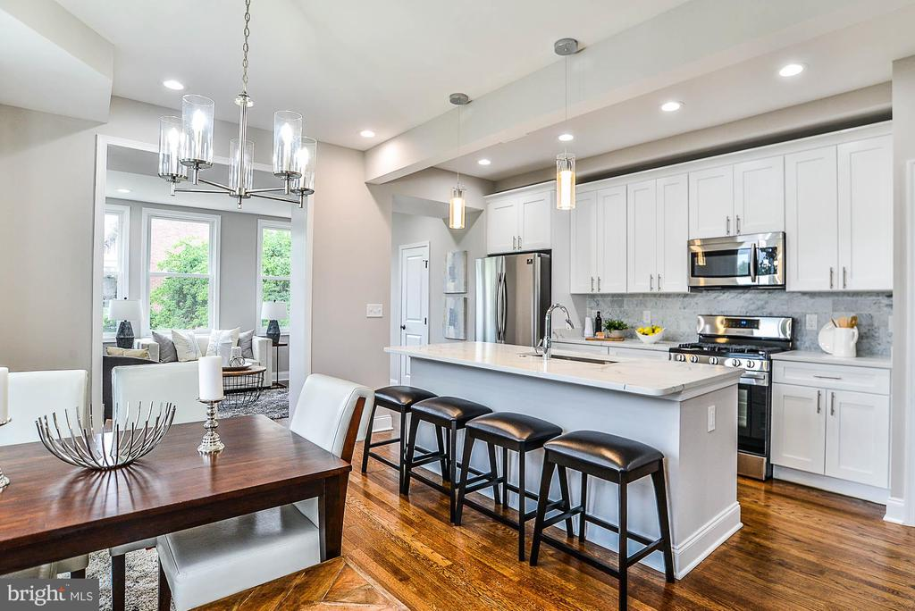Dining Room/Kitchen - 3600 18TH ST NE, WASHINGTON
