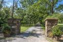 One of two entrance gates - 19312 WALSH FARM LN, BLUEMONT