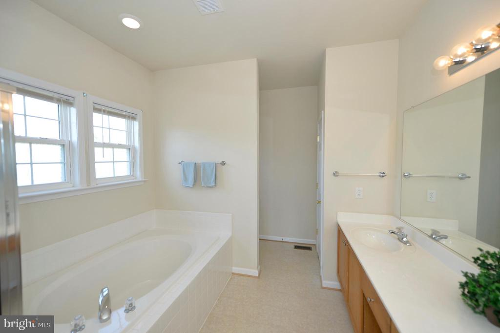 Luxurious Master Bath - 136 FORTRESS DR, WINCHESTER