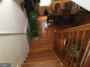 Stairs from Master Bedroom Addition area - 7801 MISTY CT, GAITHERSBURG