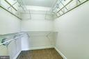 large walk in closet - 112 CLEREMONT DR, FREDERICKSBURG
