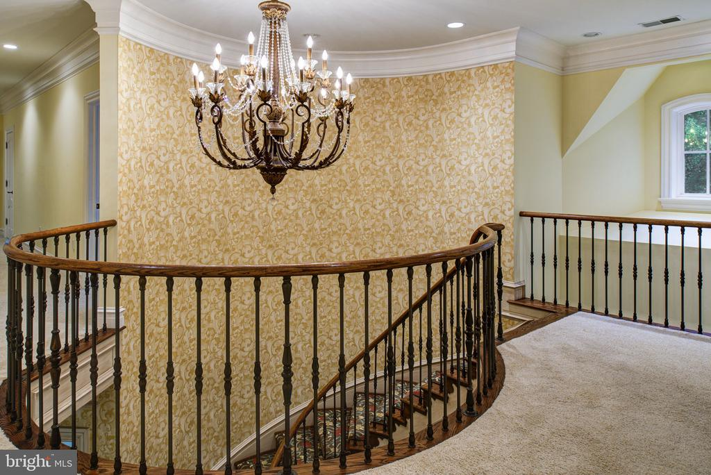 Iron curved staircase - 9998 BLACKBERRY LN, GREAT FALLS
