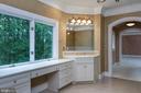 Master bath vanity - 9998 BLACKBERRY LN, GREAT FALLS