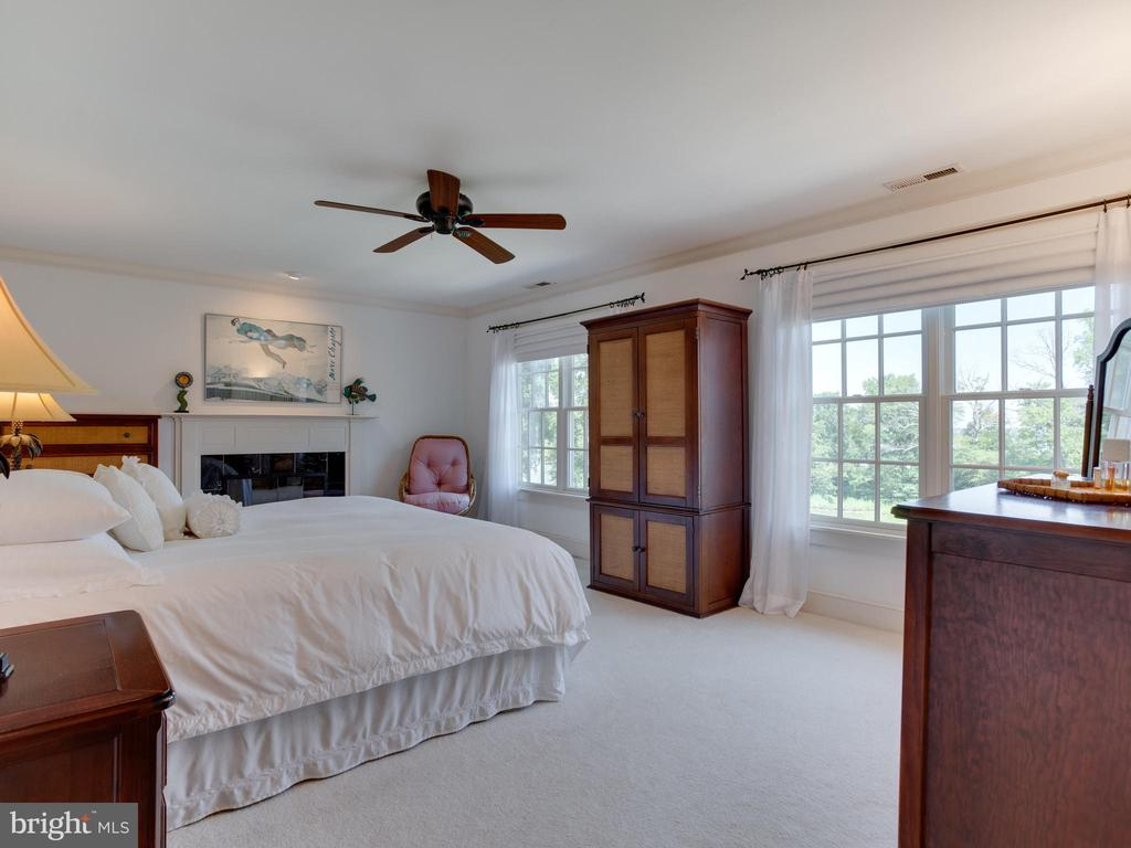 Master Bedroom with Water View and Fireplace - 3133 CATRINA LN, ANNAPOLIS